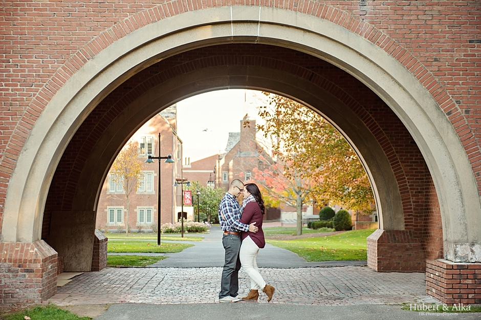 Stephanie And Dustin S Taft School Watertown Ct Fall Engagement Photos Hk Photography With Hubert Alka