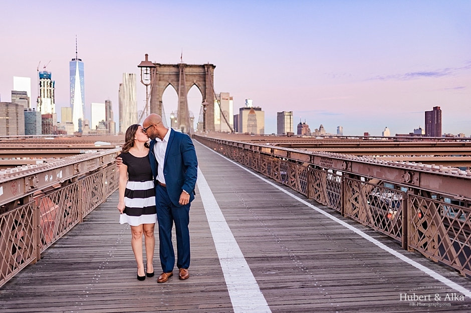 brooklyn bridge engagement photoshoot highline nyc at sunrise with hubert alka hk-photography