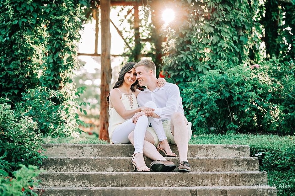 Rose Garden Engagement Session at Elizabeth Park in Hartford CT