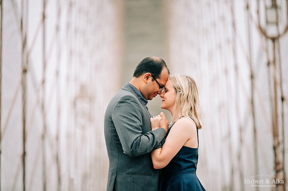 NYC Brooklyn Bridge and DUMBO Engagement Session